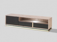 TV-Möbel LED INTUITION - 1 Tür & 2 Schubladen