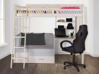 Hochbett mit Schreibtisch & Sofa GOLIATH - 90 x 200 cm