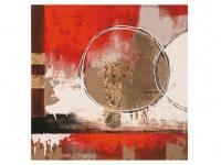 Kunstdruck Öl auf Leinwand Symbol 2 - 100x100cm