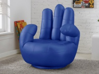 Fingersessel Catchy - Drehbar - Blau