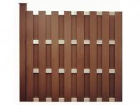 Verlängerung Gartenzaun Sichtschutz CUYABA - 180x180 cm - Braun