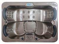 LED-Whirlpool Spa Themise II - 4 Plätze - Braun