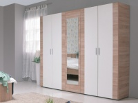 Kleiderschrank MILANA - 5 Türen - Breite: 223cm