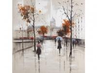 Kunstdruck Öl auf Leinwand Paris - 100x100cm