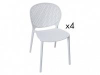 Stuhl 4er-Set ROUANNE - Weiß
