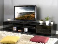 TV-Möbel Hochglanz Hilary - Schwarz