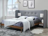 Polsterbett mit Nachttischen Holz & Stoff SAVINO - 160x200 cm