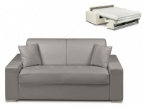 Schlafsofa 2-Sitzer EMIR - Grau - Liegefläche: 120cm - Matratzenhöhe: 18cm