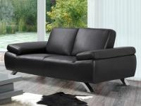 Sofa 2-Sitzer Polka - Schwarz