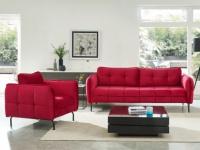 Couchgarnitur 3+1 Samt CLORIS - Rot