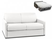 Schlafsofa 2-Sitzer CALIFE - Weiß - Liegefläche: 120 cm - Matratzenhöhe: 22cm