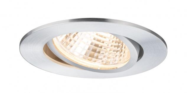 Paulmann 926.44 Premium Einbauleuchte Set Daz schwenkbar LED 1x13W 350mA 15VA 92mm Alu gedreht Alu