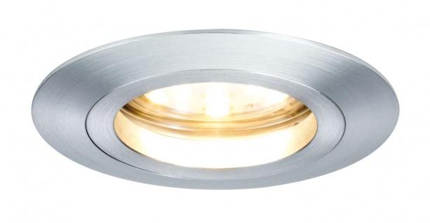 Paulmann 928.09 Premium Einbauleuchte Set Coin dimmbar klar rund st LED 3x7W 2700K 230V 51mm Alu Zink gedreht