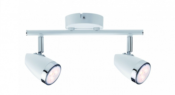 Paulmann Spotlight Root 2x3, 5W GU10 Weiß/Chrom 230V Metall