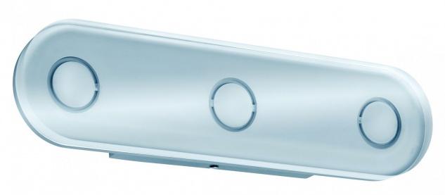 WallCeiling rund Theta IP44 LED 1x13, 5W Alu eloxiert/Klar 230V Metall/Acryl