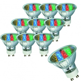 28013.10 10 Stück Paulmann GU10 Fassung LED Reflektor 20° 1W GU10 230V 51mm 7 Colors