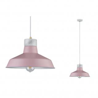 Paulmann 796.10 Neordic Disa Pendelleuchte max 1x20W E27 Rosa/Weiß matt 230V Metall/Marmor