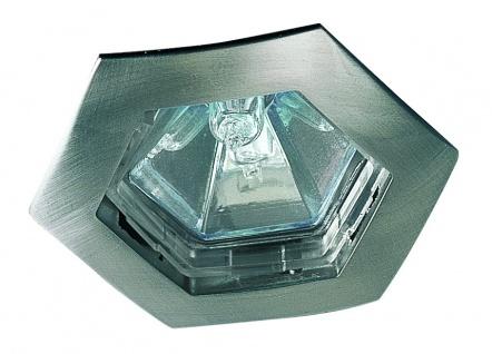 Paulmann Premium Einbauleuchte Hexa max.35W 12V GU5, 3 79mm Eisen gebürstet/Alu Zink
