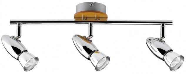 Paulmann 600.87 Spotlights Rolim Stange 3x8W GU10 230V Chrom Holz/Metall
