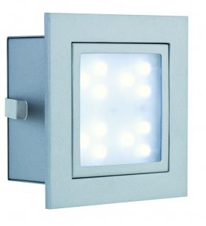 994.97 Paulmann Wand & Bodeneinbau Special EBL Set Wand LED Window 1 2W 230V 100mm Alu matt/Metall