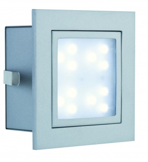 Paulmann Special Einbauleuchte Set Wand LED Window 1 2W 230V 100mm Alu matt/Metall