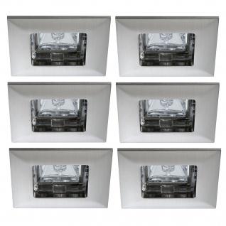 Paulmann Premium Einbauleuchte Set Quadro 6x35W 2x105VA 230/12V GU5, 3 68mm Eisen gebürstet/Alu Zink