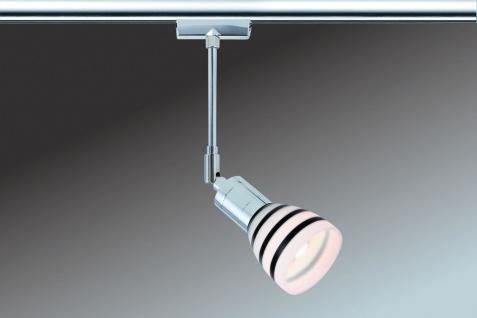 968.77 Paulmann U-Rail Einzelteile URail System Light&Easy Spot Titurel 1x42W G9 Chrom Opal/Schwarz 230V Metall/Gls