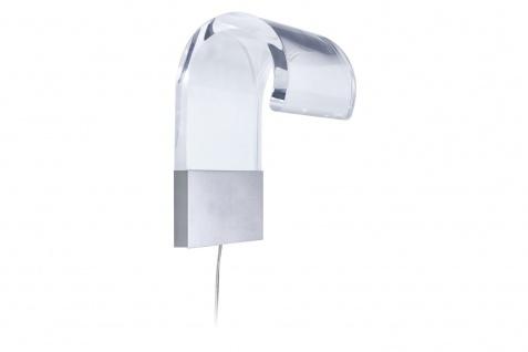 993.65 Paulmann Wandleuchten Galeria Crypta LED 2x1W max.4, 3W Chrom matt/Transparent 230/12V Metall/Kunstst