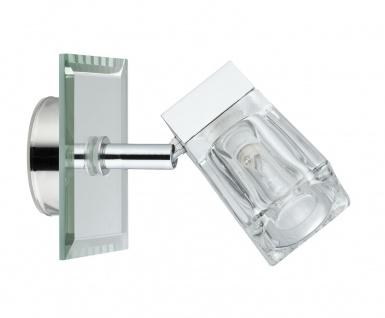 Paulmann 703.55 WallCeiling Trabani IP44 20W G9 Chrom/Transparent 230V Metall/Glas