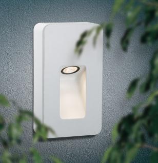 Paulmann Special Aufbauleuchte Set IP44 Wand Slot LED 2, 4W 230V 93mm Weiß matt/Alu