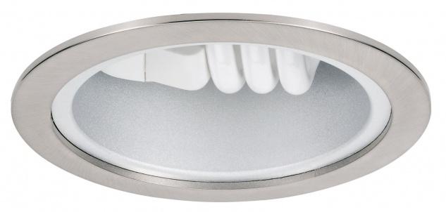 Paulmann 920.11 Quality Einbauleuchte Energiesparlampe max. 25W 230V E27 175mm Eisen gebürstet/Stahlblech