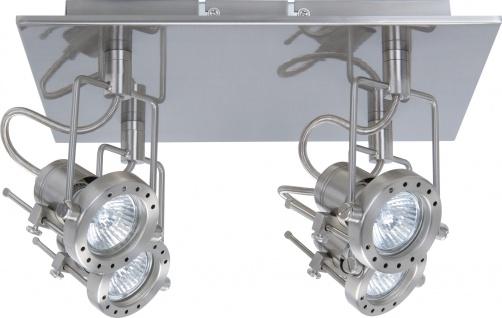 Paulmann 661.72 Spotlights Techno Rondell 4x50W GU10 Eisen gebürstet 230V Metall