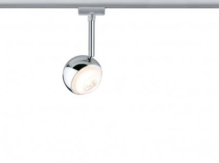 URail System LED Spot Capsule 1x4, 5W Chrom matt 230V Metall