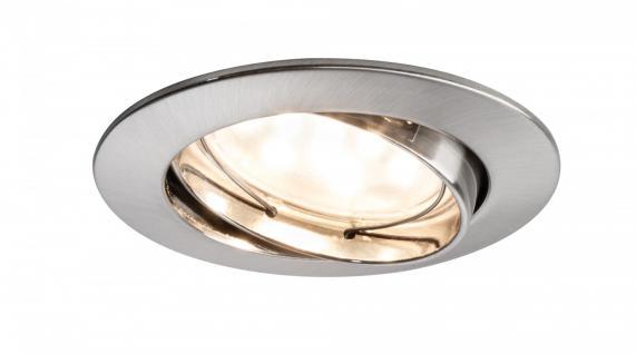 Premium EBL Set Coin klr rund schwb LED 1x6, 8W 2700K 230V 51mm Eisen g/Alu Zink