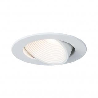 Paulmann 998.70 Premium EBL Helia rund schwenkbar LED 4000K 8, 7W 230V/700mA 92mm weiß matt Alu Acryl