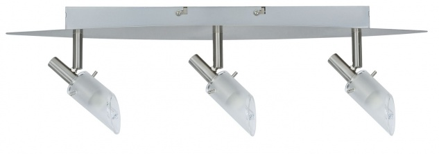 Nice Price 3681 Nice Price Spotlights C Balken 3x40W G9 Nickel satiniert/Satin 230V Metall/Glas