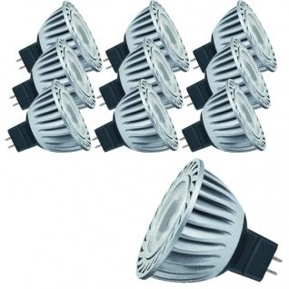 10er Pack 12V GU5, 3 Fassung 28052.10 LED Powerline 1, 5W 35° Tageslichtweiß Paulmann