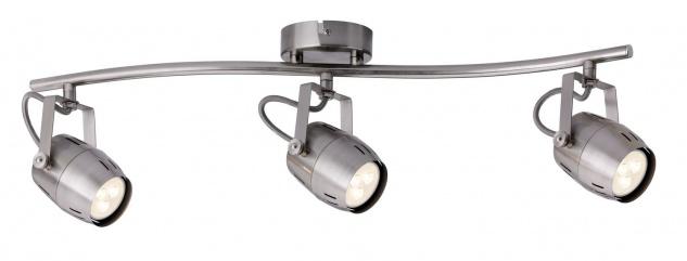 Paulmann 602.87 Spotlight Gamma LED 3x3, 5W GU10 230V Nickel gebürstet Metall