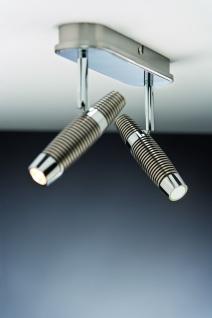 Paulmann 601.55 Spotlight Channel LED Balken 2x10W Nickel gebürstet/Chrom 230V Metall