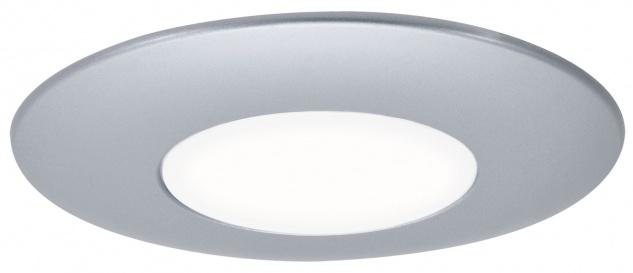 989.88 Wand Einbauleuchte LED IP65 1x 0, 25W 230V 84mm Chrom matt/Opal/Kunststoff 60mm Einbaudose 98988