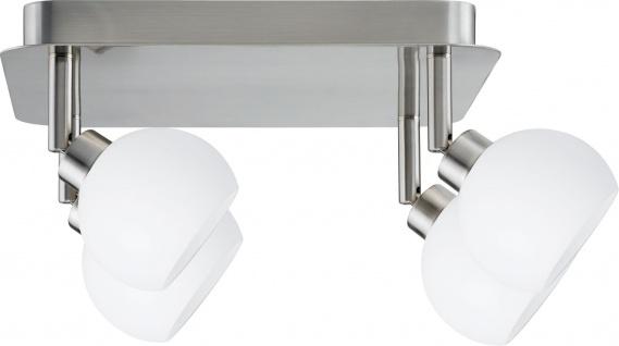 Paulmann 601.45 Spotlights Wolbi Rondell 4x9W GZ10 Eisen gebürstet/Weiß 230V Metall/Glas