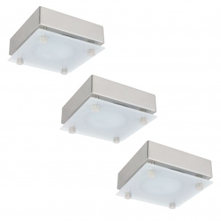 Möbel ABL Set Quadro 3x20W 60VA 230/12V G4 80mm Chrom matt/Satin/Stahlblech/Glas