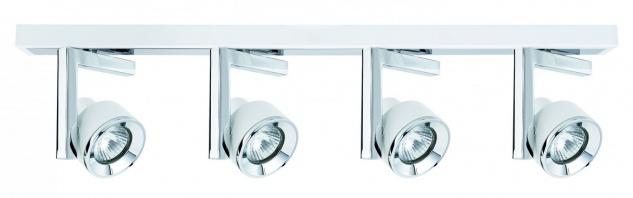 Paulmann Spotlight Turn Balken 4x40W GU10 Weiß Chrom 230V Metall
