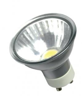 LED Leuchtmittel 5W GU10 3000K Warmweiss 230V 350lm Silber