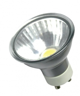 MILI LED Leuchtmittel 5W GU10 3000K Warmweiss 230V 350lm Silber