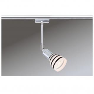 Paulmann 968.77 URail Schienensystem Light&Easy Spot Titurel 1x42W G9 Chrom Opal/Schwarz 230V Metall/Glas