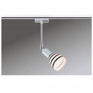 Paulmann URail Schienensystem Light&Easy Spot Titurel 1x42W G9 Chrom Opal/Schwarz 230V Metall/Glas