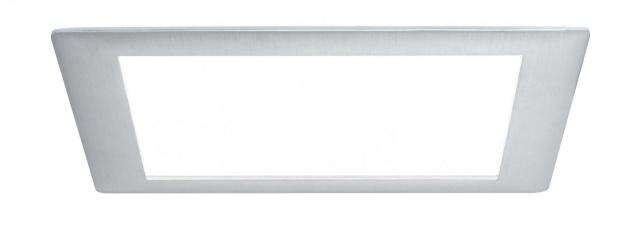 Paulmann Premium Einbauleuchte Set Panel eckig LED 1x8W 6500K 8VA 230V/350mA 210mm Alu gebürstet/Alu