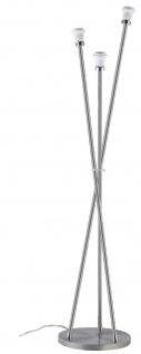Paulmann 794.60 Living 2Easy Stehleuchte Basic 3x11W Energiesparlampe E27 DecoPipe Eisen gebürstet 230V Metall
