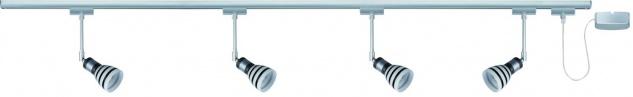 Paulmann URail Schienensystem Set Titurel 4x40W G9 Titan/Opal/Schwarz 230V Metall/Glas - Vorschau 1